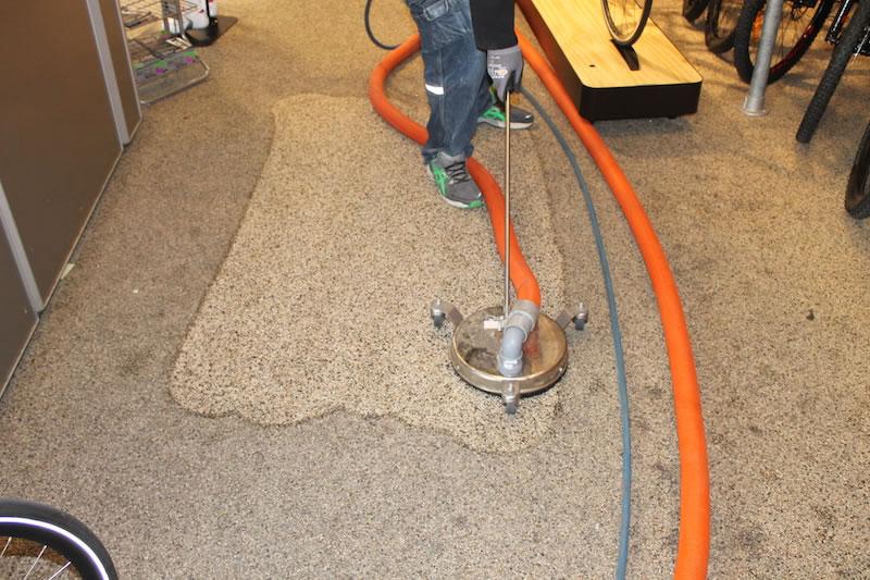 et tæppe der bliver renset